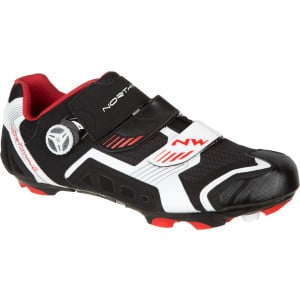 Nirvana MTB Shoe  Black/White/Red, 47.0 - Excellent