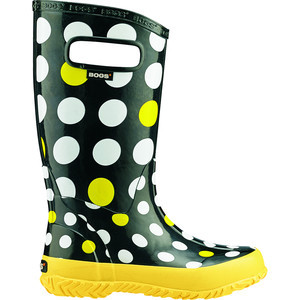 Rainboot - Girls' Black Dot Multi, 1.0 - Good