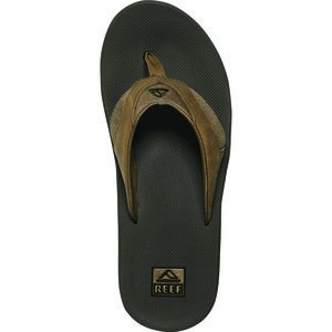 Leather Fanning Flip Flops - Men's Brown/Brown, 8.0 - Good