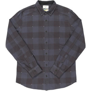 Grant Print Flannel Shirt - Long-Sleeve - Men's Navy, XL - Excellent