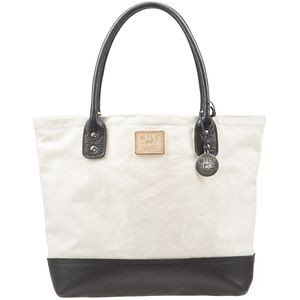 Canvas Leather Everyday Tote Natural/Black, One Size - Like New