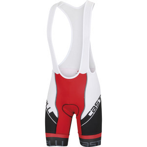 Volo Bib Shorts - Men's Black/White/Red, L - Excel