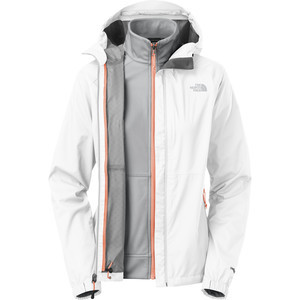 Momentum Triclimate 3-In-1 Jacket - Women's TNF White/High Rise Grey,