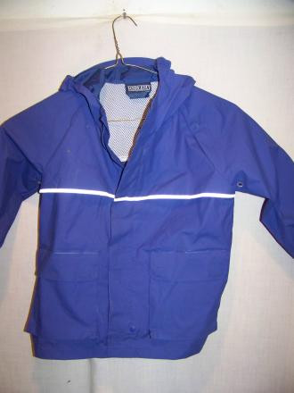 Lands End PVC Rain Jacket, Kids Medium 5-6