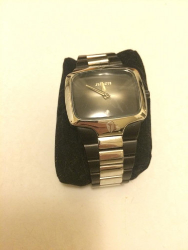 Nixon The Player Silver/Black with Black Face