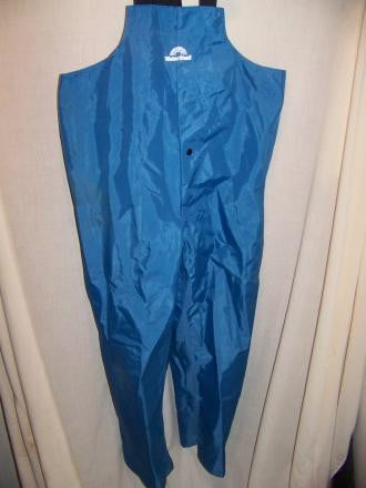 Watershed PVC Boating Fishing Rain Pants Bibs, MED