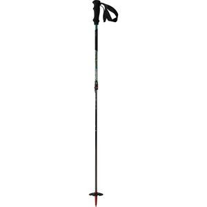 Broad Peak Carbon Adjustable Ski Pole Green/Neon, One Size - Excellent