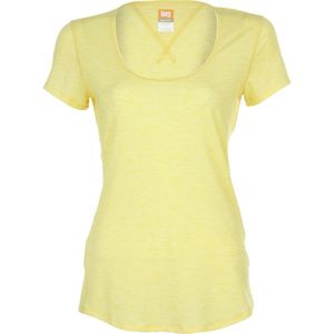 Workout Shirt - Short-Sleeve - Women's Amber Glow Heather, L - Excelle