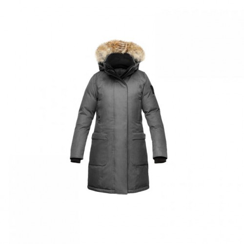 NOBIS MERIDETH PARKA - WOMEN'S Small, Crosshatch steel grey