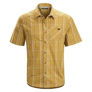 Peakline Shirt - Short-Sleeve - Men's Harvest, L - Excellent