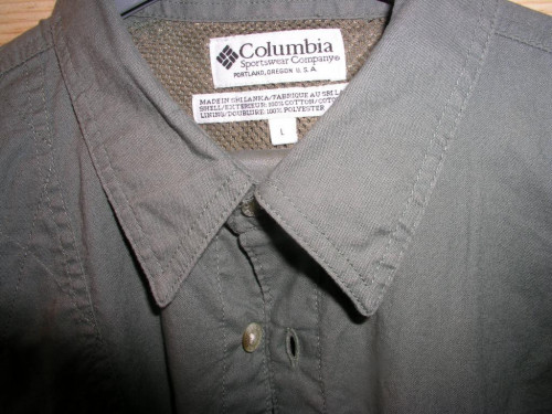 Columbia Outdoor (shooting) Shirt Size Large