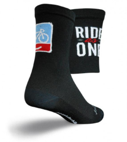 SockGuy People For Bikes Cycling Socks, L/XL Unisex
