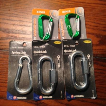 New- 7 Locking and Non-locking Carabiners