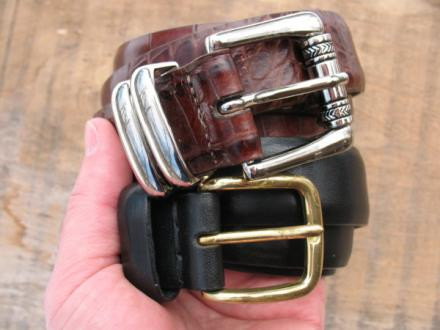 Martin Dingman and Eddie Bauer belts