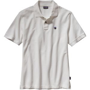Fitz Roy Emblem Polo Shirt - Men's White, L - Excellent