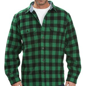 Wool Buffalo Regular Fit Shirt - Long-Sleeve - Men's Forest Green, XL
